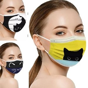 10 piece Assorted Cat Print Breathable Mask